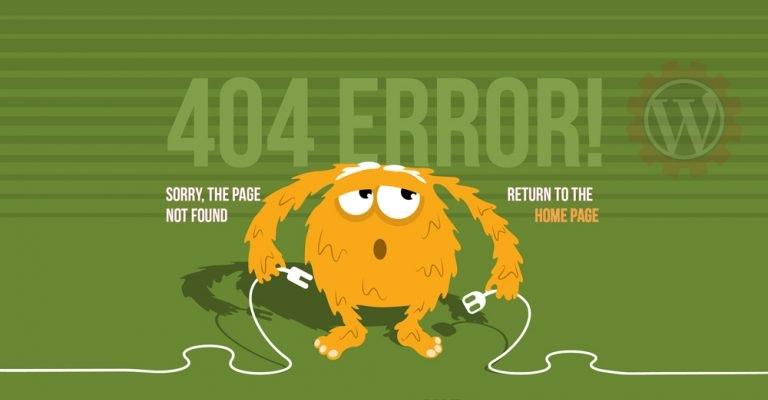 صفحه خطای 404 در وردپرس-خطای ۴۰۴