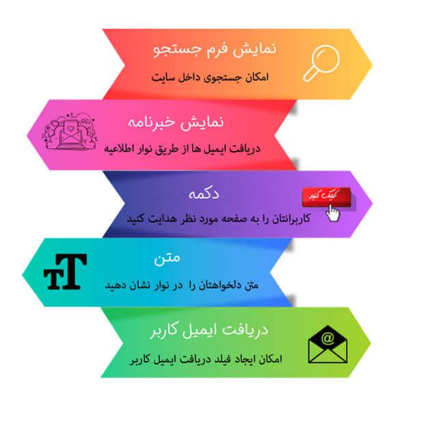 افزونه نوار اطلاعیه فارسی برای وردپرس